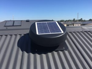 solar roof ventilation