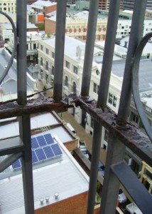 Corroding Balustrade - Building Inspection